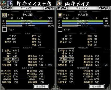 ナイトの武器比較
