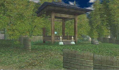 竹林の東屋