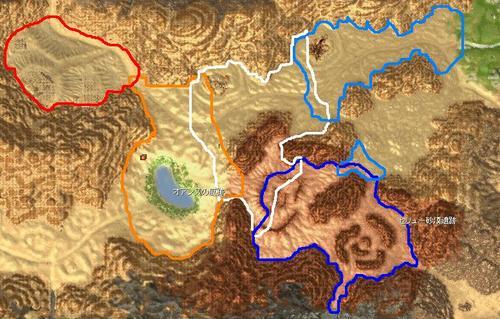 セリュー砂漠マップ