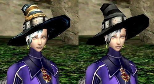 魔女帽2種(前から)