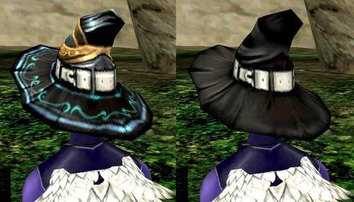 魔女帽2種(後ろから)